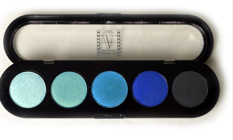 Т25. Тени палитра Make-up Atelier Paris 5 цв. водные тона (25)