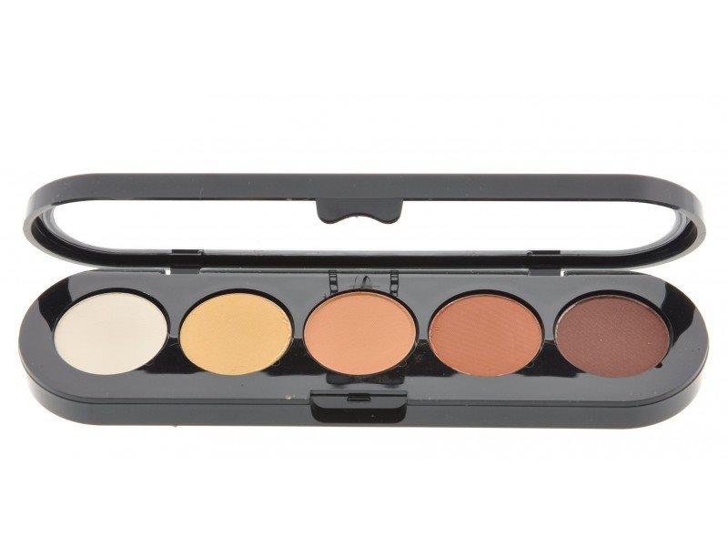 Т05. Тени палитра Make-up Atelier Paris 5 цв. рыже-коричневые тона (05)