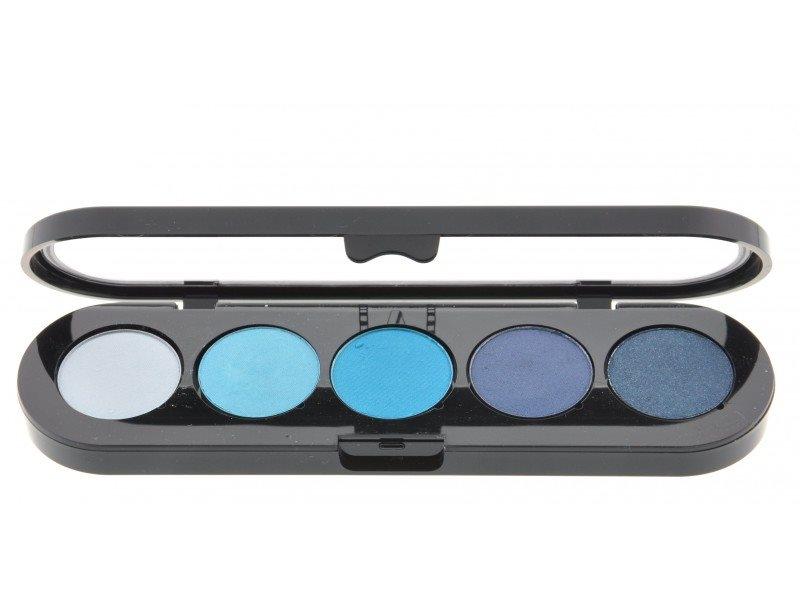 Т07. Тени палитра Make-up Atelier Paris 5 цв. синие-голубые тона (07)