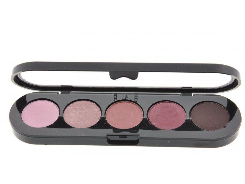 Т10. Тени палитра Make-up Atelier Paris 5 цв. коричнево-сиреневые тона (10)