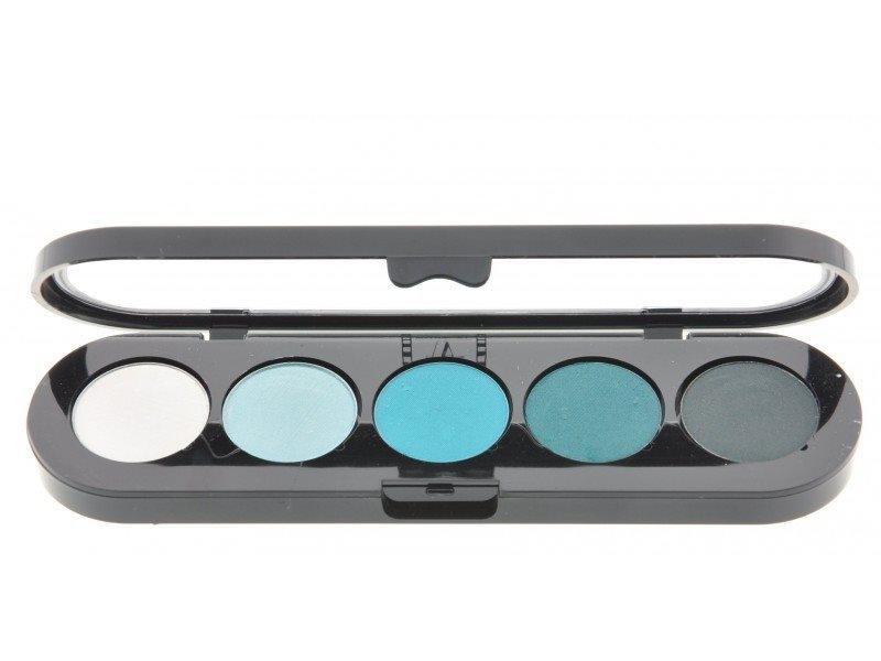Т11. Тени палитра Make-up Atelier Paris 5 цв. сине-зеленые тона (11)