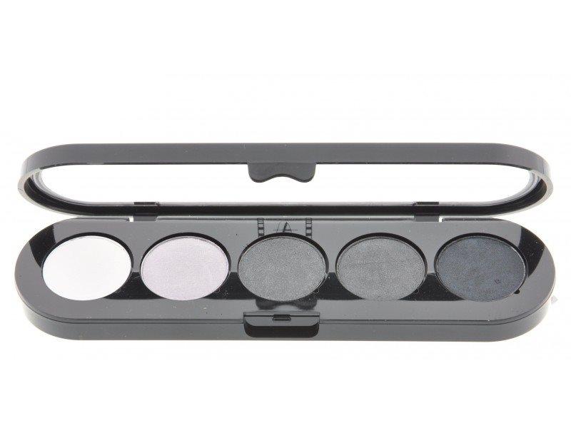 Т12. Тени палитра Make-up Atelier Paris 5 цв. черно-белые тона (12)