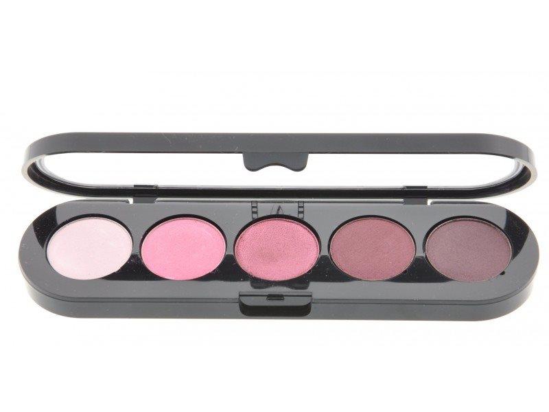 Т16. Тени палитра Make-up Atelier Paris 5 цв. вишневые с переливом тона (16)