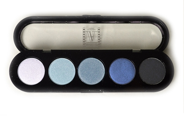 Т27. Тени палитра Make-up Atelier Paris 5 цв. голубой бриллиант (27)