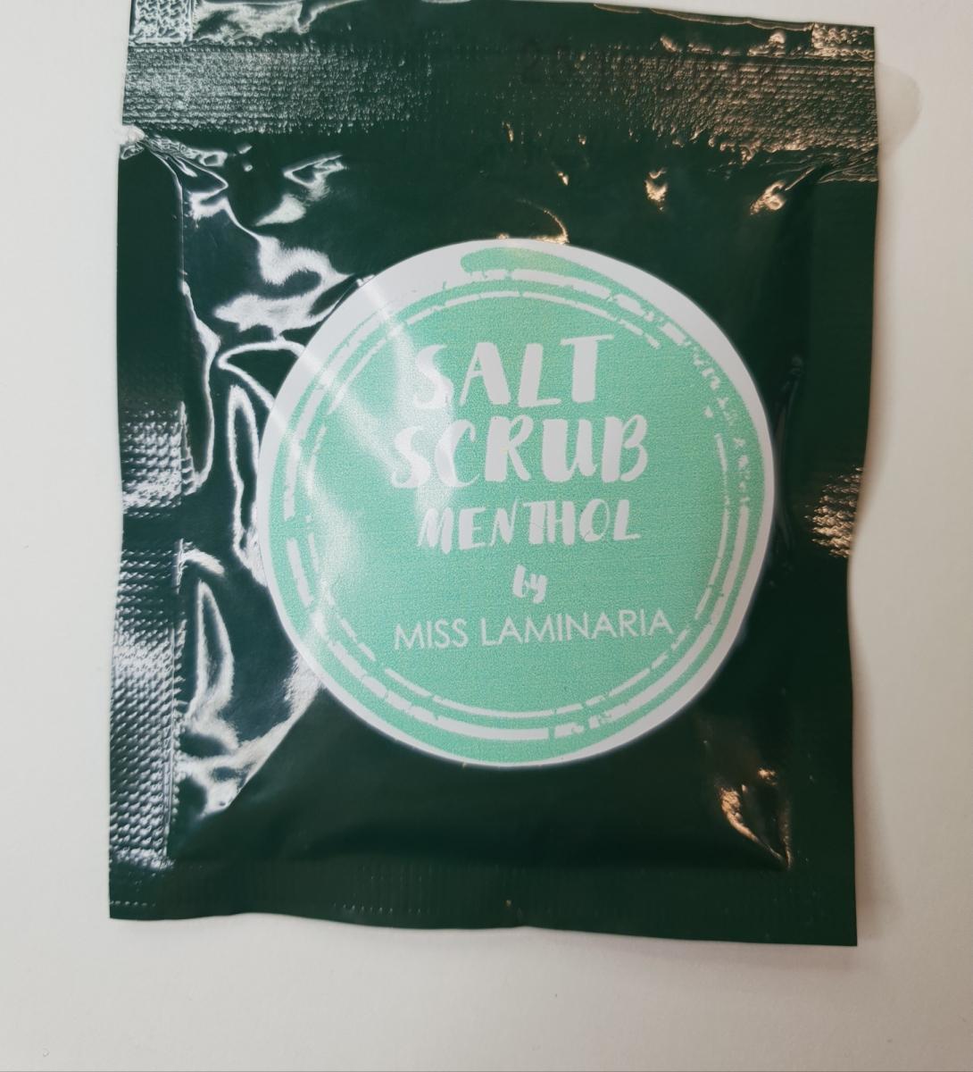 Тестер скраб Laminaria Shop солевой с ментолом 30 гр