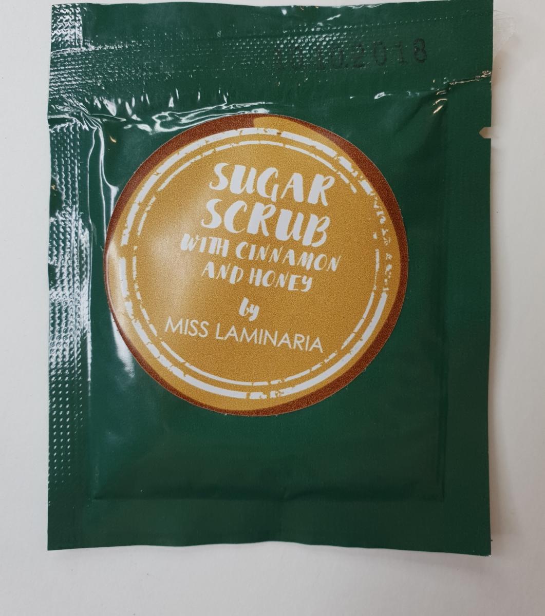Тестер скраб Laminaria Shop сахарный с медом и корицей 30 гр