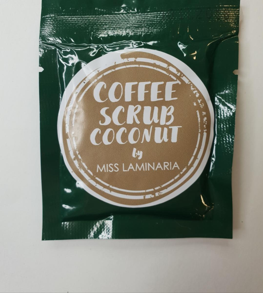 Тестер скраб Laminaria Shop кофе- кокос 30 гр
