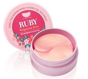 Патчи для глаз с болгарской розой и порошком рубина Petitfee KOELF Ruby & Bulgarian Rose(60 шт)