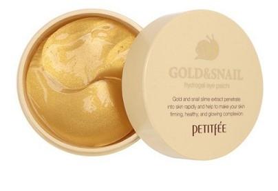 Гидрогелевые пачти с золотом и муцином улитки Petitfee Gold & Snail Hydrogel Eye Patch (60 штук)