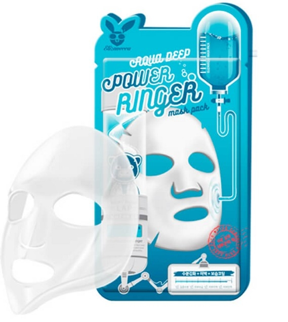 Тканевая маска Elizavecca AQUA Deep Power Ringer Mask Pack(23 мл)