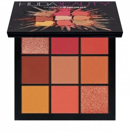 Тени Huda Beauty Coral Obsessions Palette (9 оттенков)