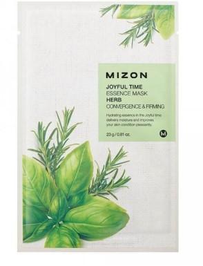 Маска для лица тканевая травяная MIZON Joyful Time essence mask HERB (23 гр)