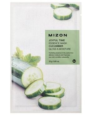Маска для лица тканевая c огурцом MIZON Joyful Time essence mask CUCUMBER (23 гр)