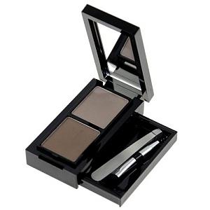 Набор для моделирования формы бровей компактный Eye Brow Set 010 светло-коричневый, темно-коричнев