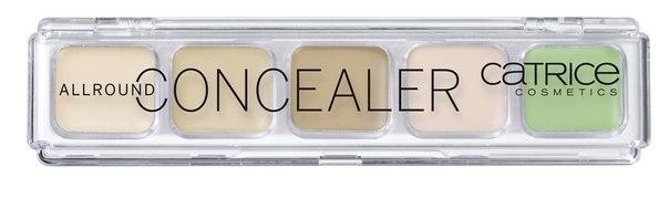 Консилер Catrice Allround Concealer 010 (5 оттенков 3 беж+ роз+зел)