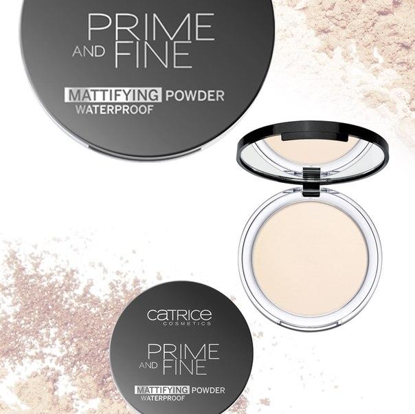 Пудра компактная матирующая влагостойкая Catrice Prime And Fine Mattifing Powder WP 010 Translucent