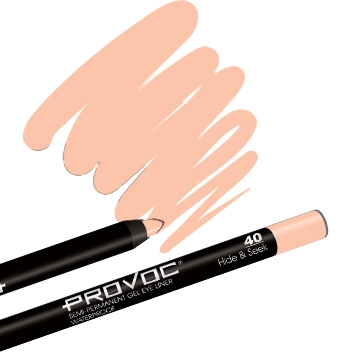 Provoc Gel Eye Liner 40 Hide & Seek Гелевый карандаш-каял для глаз (молочно-беж.)