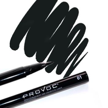 Provoc Nib Liquid Eye Liner 01 Little Black Dress Фломастер-подводка в карандаше для глаз (черный)