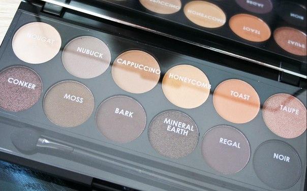 Тени для век в палетке Sleek MakeUp Eyeshadow Palette I-Divine AU Naturel 601