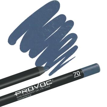 Provoc Gel Eye Liner 70 Something borrowed Гелевая подводка в карандаше для глаз (шиммер, небесно-голубой)