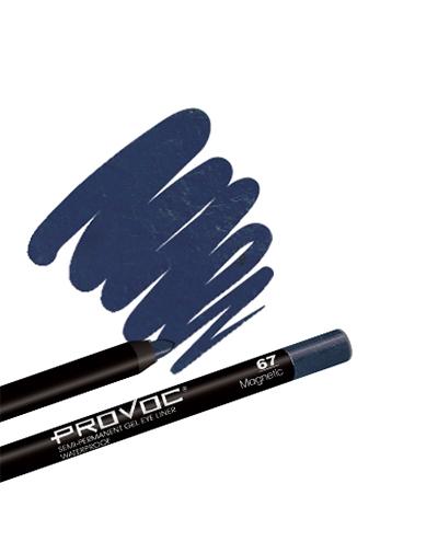 Provoc Gel Eye Liner 67 Magnetic Гелевая подводка в карандаше для глаз (цв. темн-сапфировый, шиммер)
