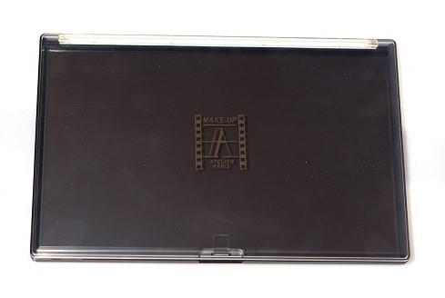 Палитра-кейс магнитный 23х15 см для пудр/теней/румян, черная с прозрачной крышкой