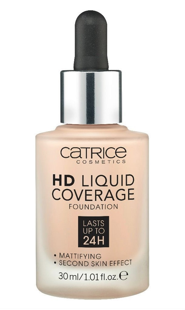 Основа тональная Catrice HD Liquid coverage foundation 010 Light Beige