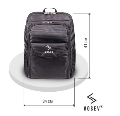 Рюкзак визажиста-парикмахера Vosev (Черный)
