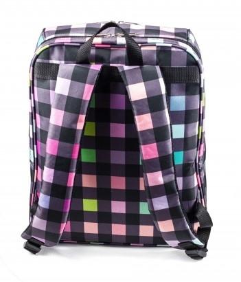 Рюкзак визажиста-парикмахера Vosev (Цветная клетка)