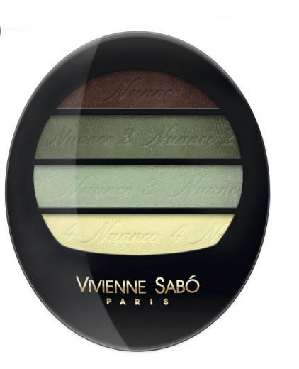 Тени для век квартет Vivienne Sabo/ Eyeshadow Quartet / Ombre a Paupieres Quartette Quatre Nuances тон/shade 72