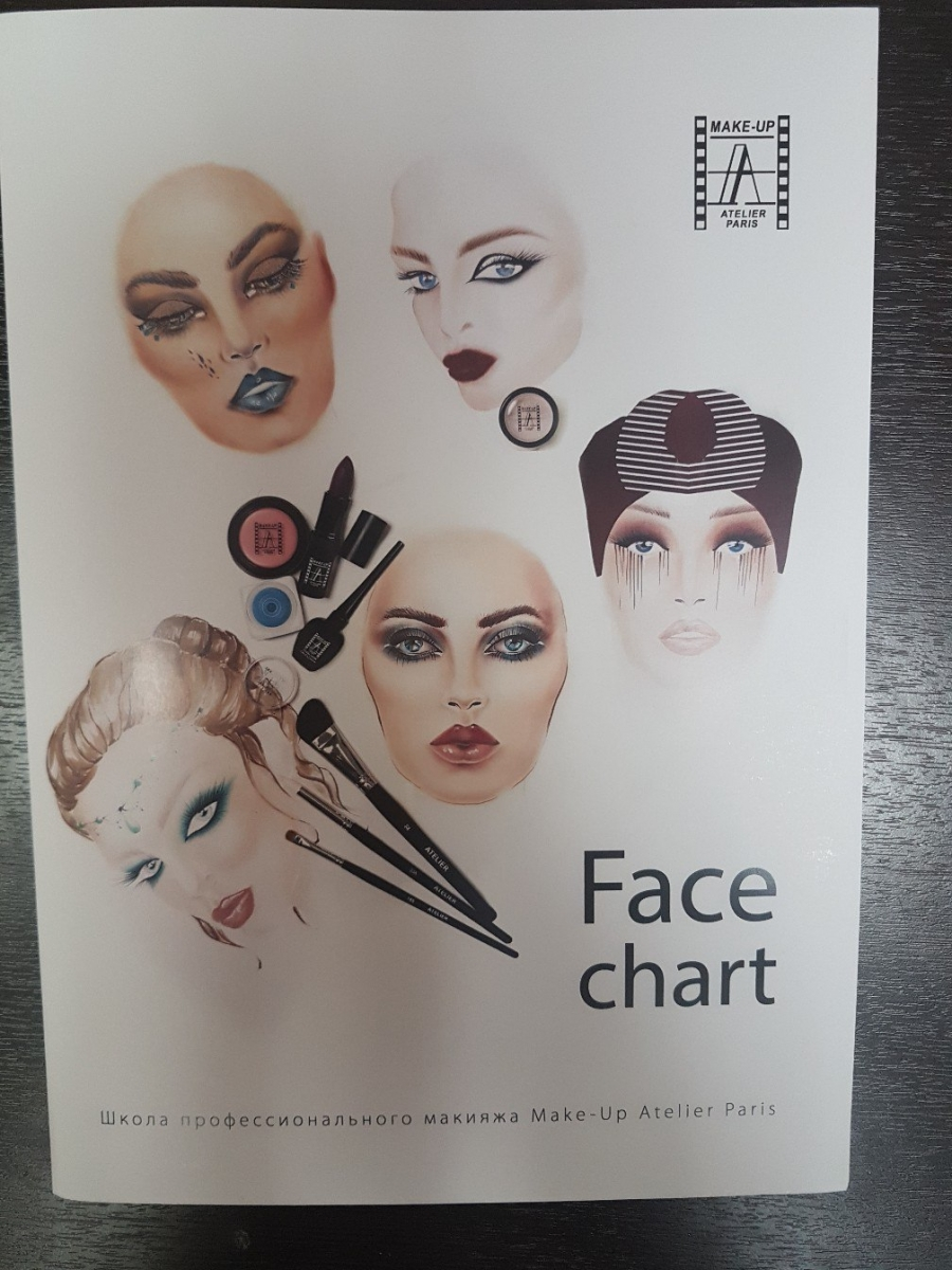 Фейс-чарт Make-up Atelier Paris