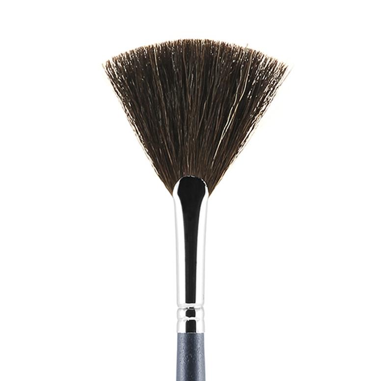 Д16 Кисть из волоса козы веерная для завершения макияжа Валери-Д