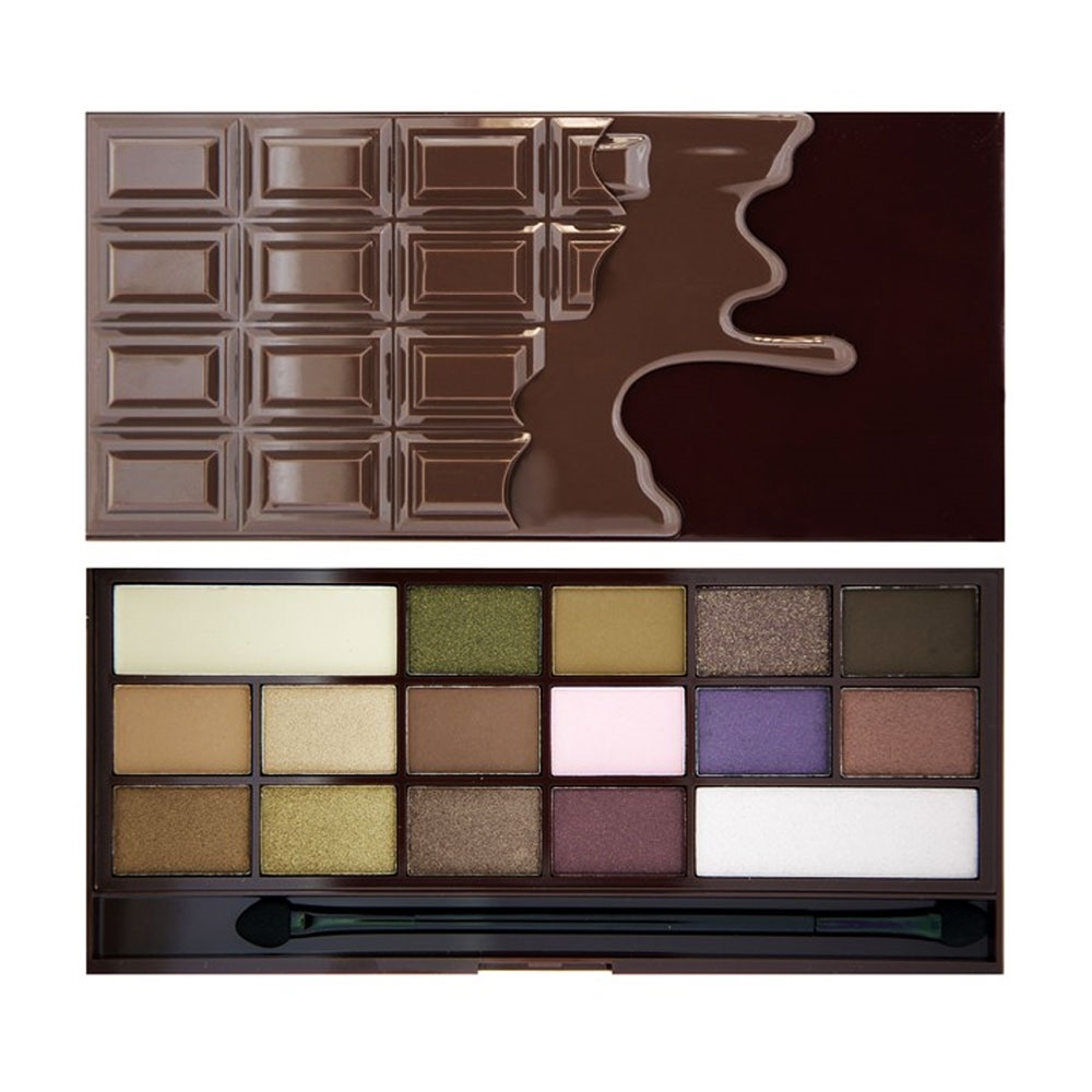 Палетка теней REVOLUTION Makeup I heart makeup wonder palette I Heart Chocolate, молочный шоколад
