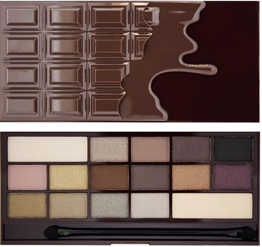 Палетка теней I HEART MAKEUP WONDER PALETTE Death By Chocolate, темный шоколад