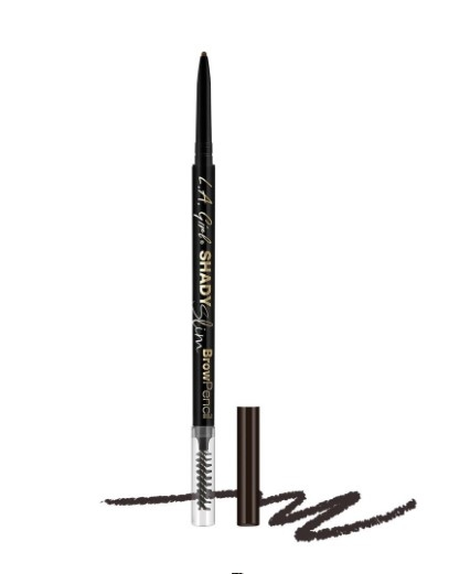 Ультра-тонкий карандаш для бровей L.A. Girl Shady Slim Brow Pencil    Blackest Brown