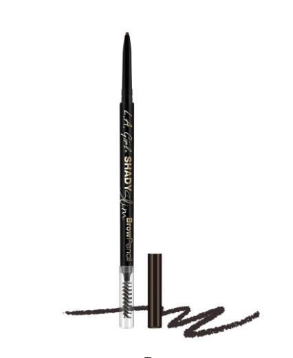 Ультра-тонкий карандаш для бровей L.A. Girl Shady Slim Brow Pencil    Blackest Brown