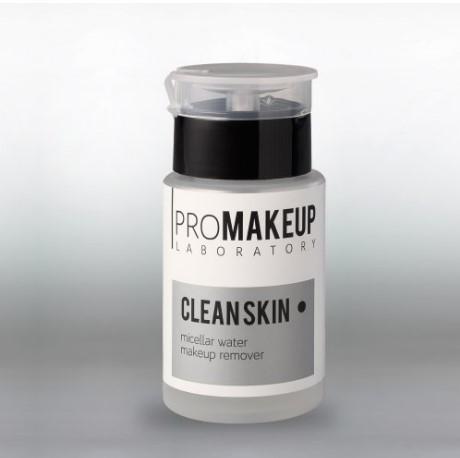 Мицеллярная вода Clean skin PROMAKEUP laboratory 100 мл с вертикальным дозатором