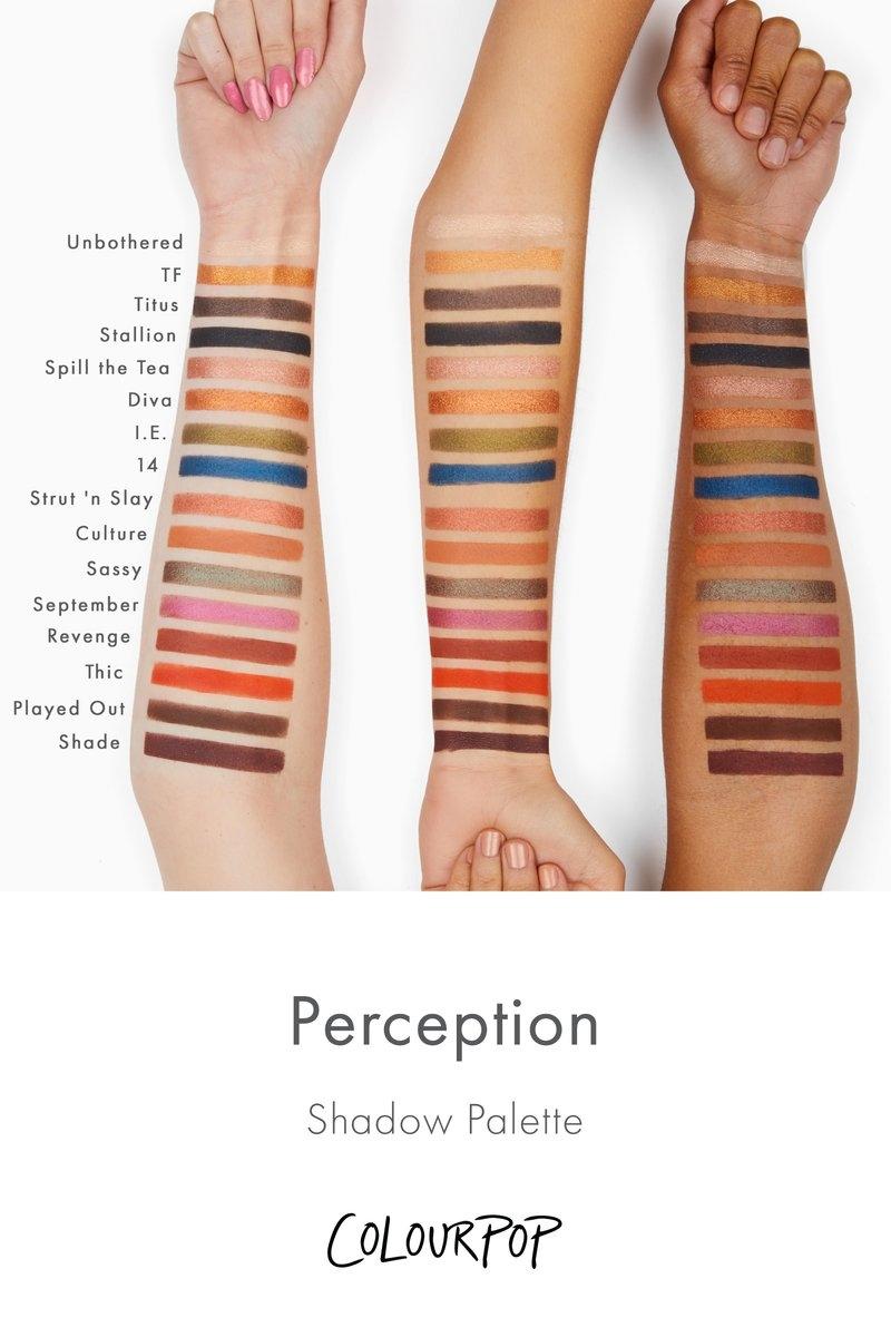 Perception Палитра теней ColourPop