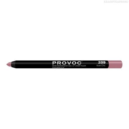 Provoc Gel Lip Liner 209 Гелевая подводка в карандаше для губ (натуральный тёмно-розовый)