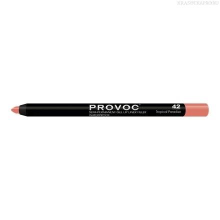 Provoc Gel Lip Liner 42 Tropical Paradise Гелевая подводка в карандаше для губ  (цв. ярко-кораловый)