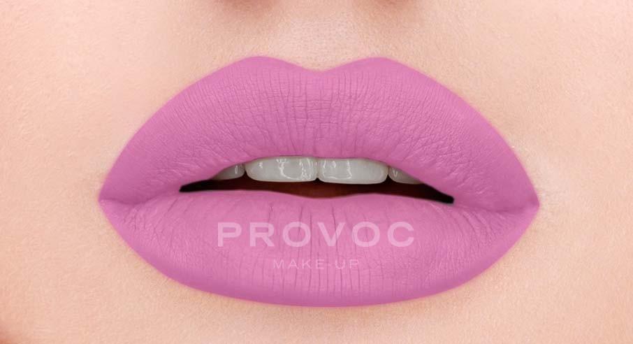 Provoc Gel Lip Liner 16 Satin Sheets Гелевая подводка в карандаше для губ (цв. розовый, барби)