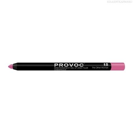 Provoc Gel Lip Liner 15 The Other Woman Гелевая подводка в карандаше для губ (цв. фуксия)