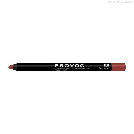 Provoc Gel Lip Liner 23 Dangerous Гелевая подводка в карандаше для губ (цв. кроваво-красный)
