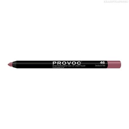 Provoc Gel Lip Liner 46 Seduce Me Гелевая подводка в карандаше для губ (цв. беж.-малиновый)