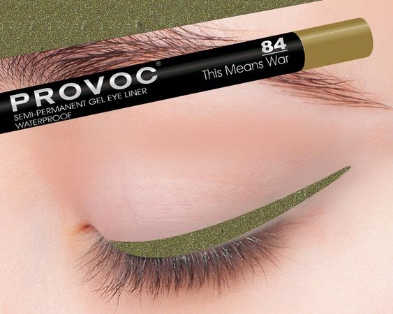 Provoc Gel Eye Liner 84 This Means War Гелевая подводка в карандаше для глаз (цв.)
