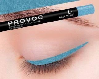 Provoc Gel Eye Liner 71 Breathtaking Гелевая подводка в карандаше для глаз (цв. бирюзовый)