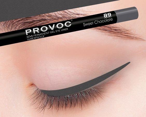 Provoc Gel Eye Liner 89 Sweet Chocolate Гелевая подводка в карандаше для глаз (цв.cеро-корич.)