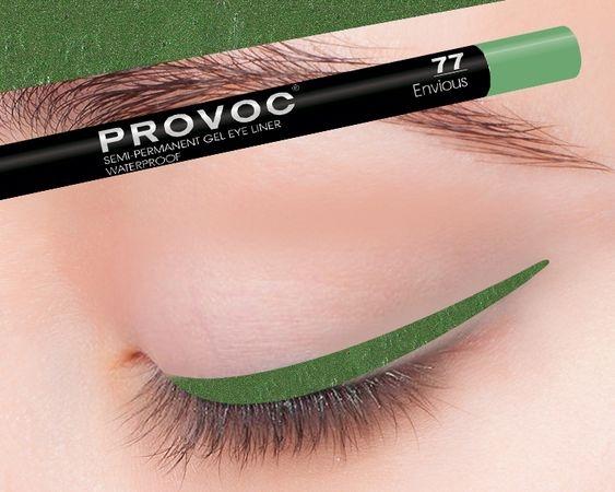 Provoc Gel Eye Liner 77 Envious Гелевая подводка в карандаше для глаз (цв. малахит, шиммер)