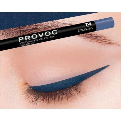 Provoc Gel Eye Liner 74 Entranced Гелевая подводка в карандаше для глаз темно-синий