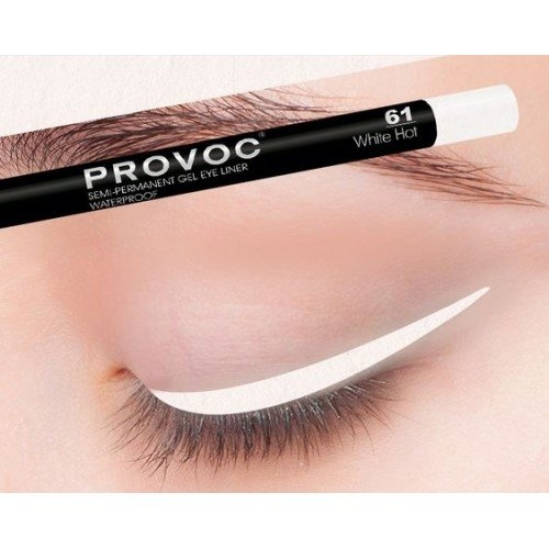 Provoc Gel Eye Liner 61 White Hot Гелевая подводка в карандаше для глаз  (цв. белый)